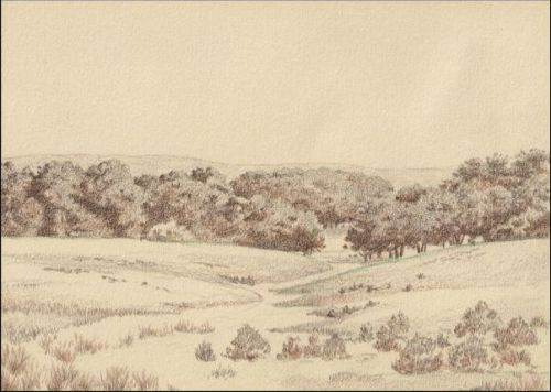 Umber Under Painting Landscape Tutorial - Umber Under Painting