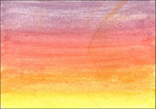 How to Draw a Sunset Sky with Watercolor Pencils Step 2