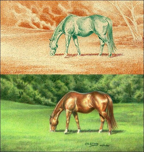 Complementary Under Drawing Method Explained - Green Pastures