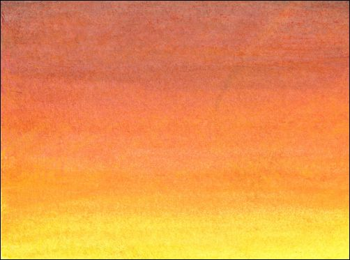How to Draw a Sunset Sky with Watercolor Pencils Step 3