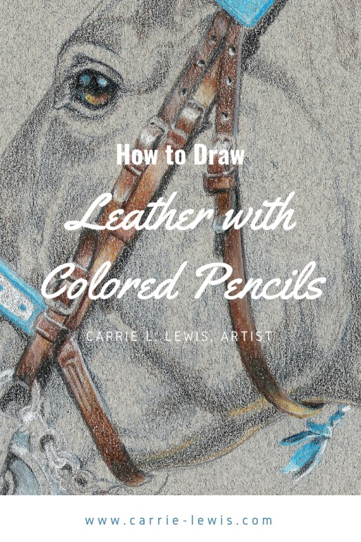 How to Draw Leather with Colored Pencils