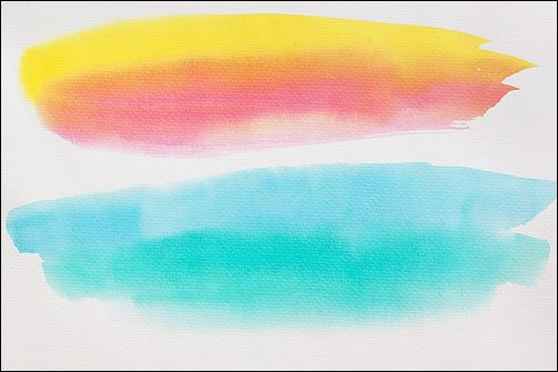 Things Not to Do When Using Watercolor Paper - One Stroke and Leave It