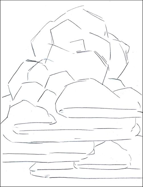 Drawing from Life - A line drawing without shading