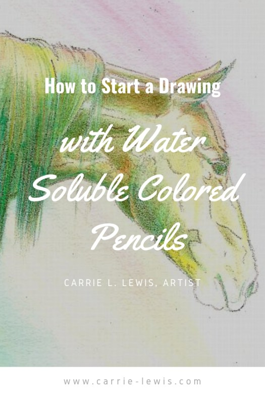 How to Start a Drawing with Watercolor Colored Pencils