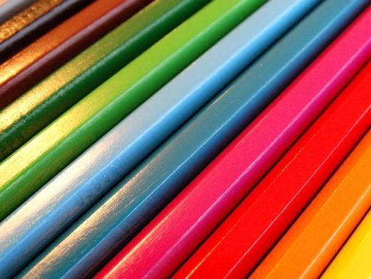 Colored Pencils on a Diagonal