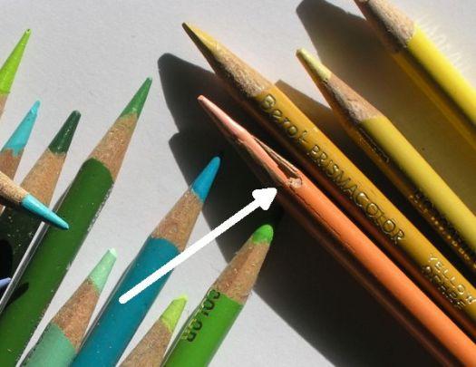 Old Prismacolor Pencils - Cracked Wood Casing