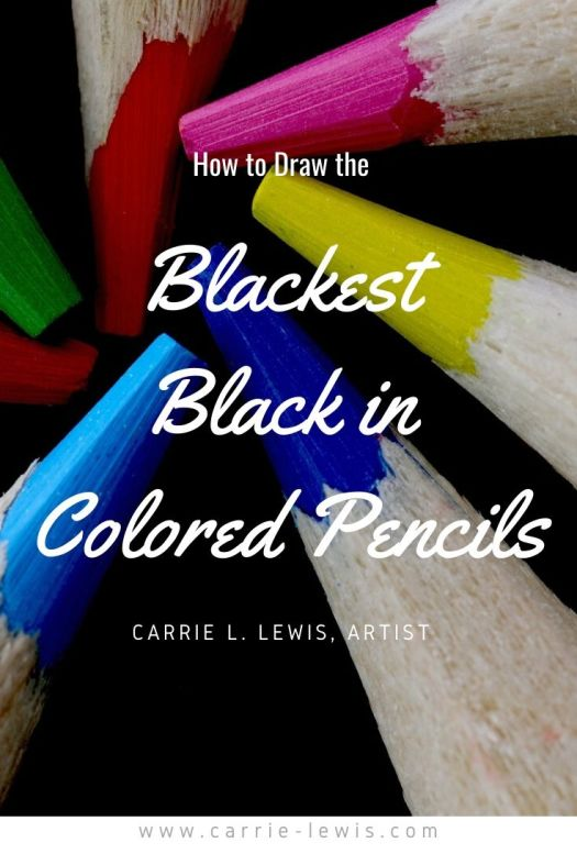 How to Draw the Blackest Black in Colored Pencils