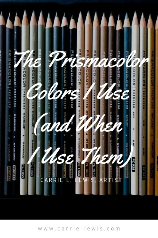 The Prismacolor Colors I Use (and When I Use Them)