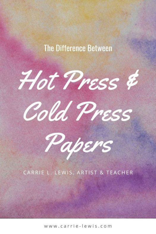 The Difference Between Hot Press and Cold Press Papers