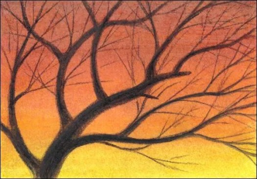 Draw a Sunset Sky with Watercolor Pencils