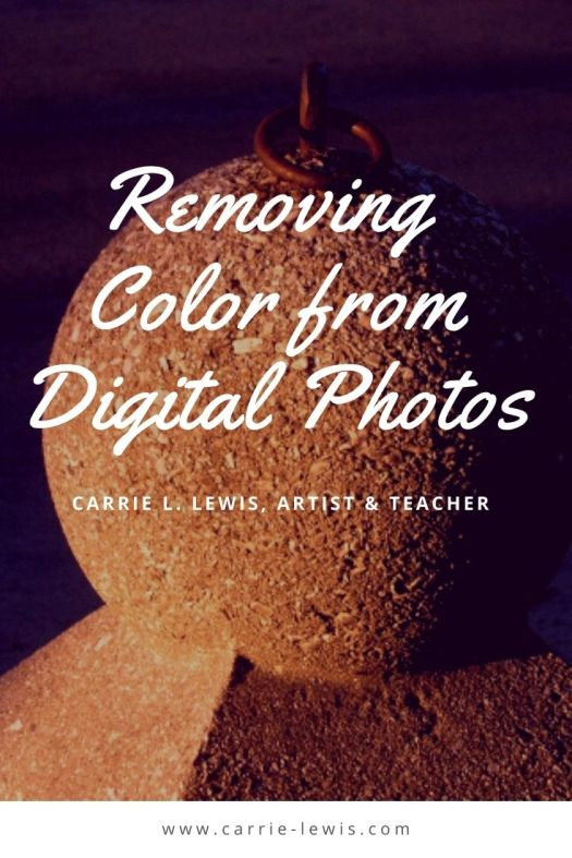 Removing Color from Digital Photos