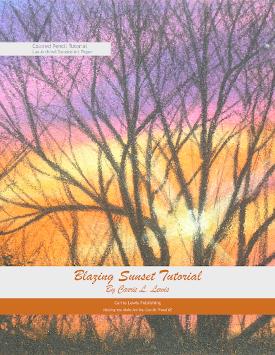 Blazing Sunset Colored Pencil tutorial