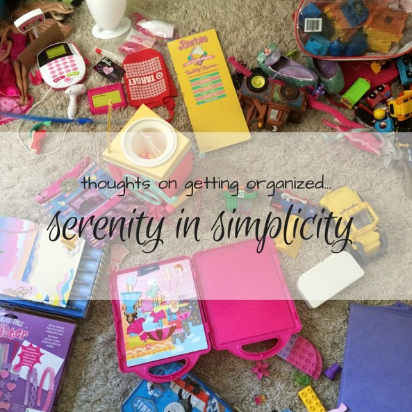 thoughts on getting organized...(1)