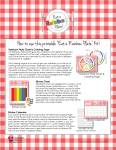 Rainbow Plate Printable Kit Instructions