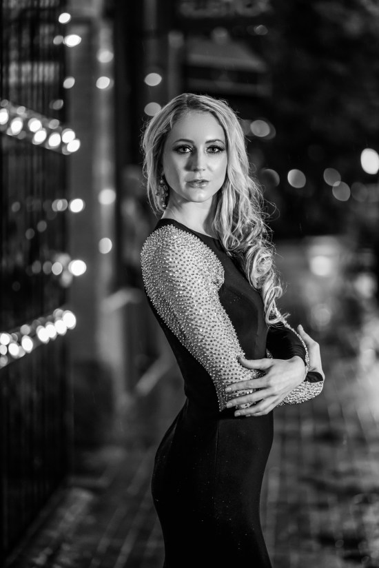 Charlotte North Carolina Portrait Photography Photographer Carrie Anne White Colorado Model Studio Urban Exposed Brick Blonde Elegant Portraits