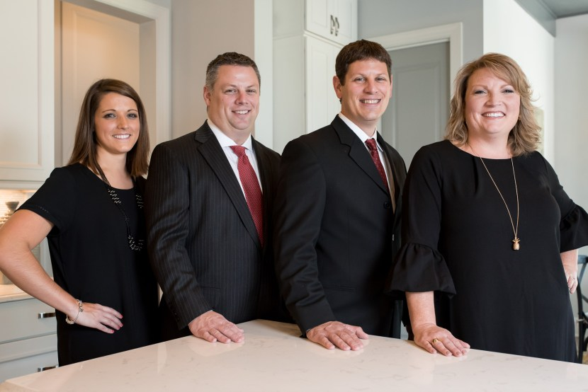 group shot of realtors for a team headshot session in Waxhaw, NC. Professional Portrait by Carrie Anne White Charlotte NC Photographer