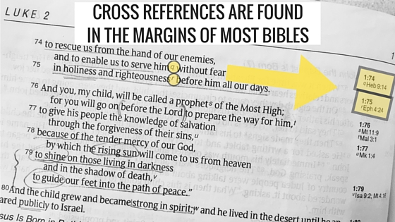 cross references are found in the margins