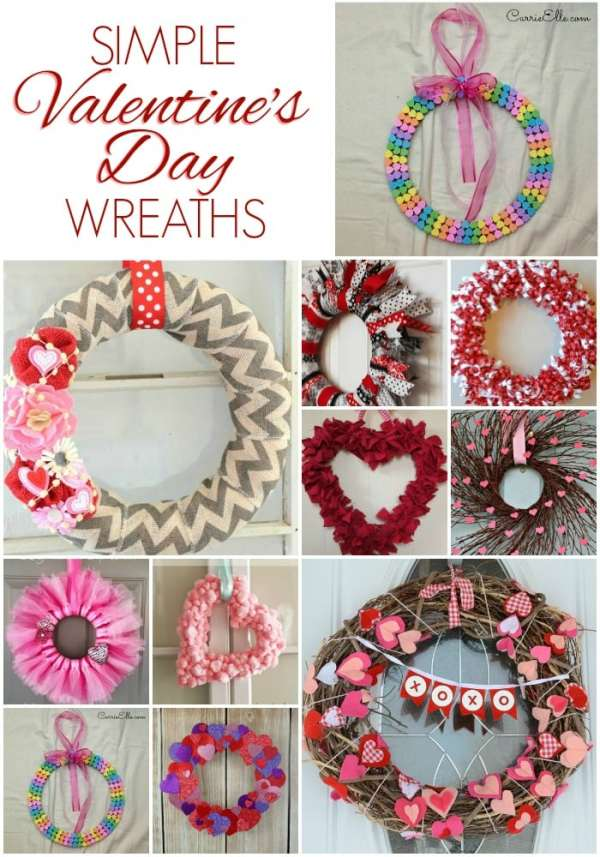 12 Simple Valentine's Day Wreaths - Carrie Elle