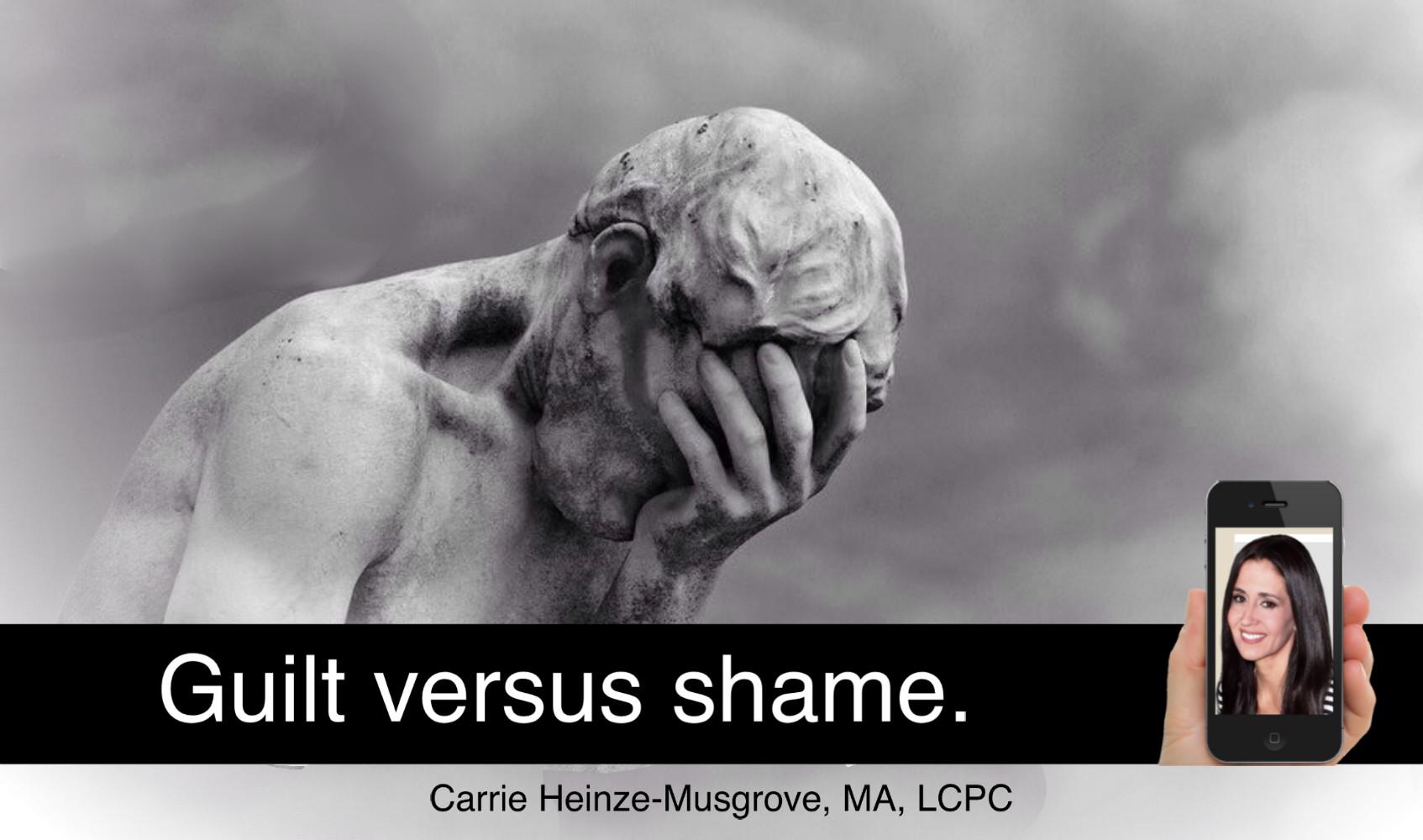 Guilt Vs Shame