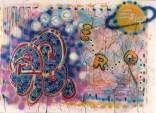 Funky Fresh and New October 1983 Tecnica mista su tela cm 175x130 Prov. Fun Gallery, New York