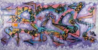 Sweet Sensation Martina Franca 1985 Spray su tela cm 380xl85