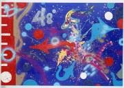 Atomic Futurism, Atomic Note, 1986 canvas cm 173X255