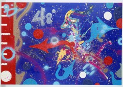 Atomic Futurism, Atomic Note, 1986 canvas cm 173X255