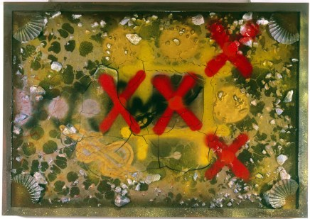 Tic Tac Toe, Equation to Go, Equation Note, 1985 Resin on Wood cm 70X100