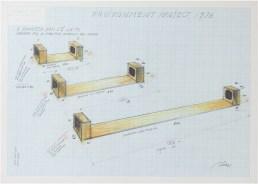 Fabrizio Plessi, Environment project, A Panarea non c'è la TV, tecnica mista su carta, cm. 70 x 50, 1976