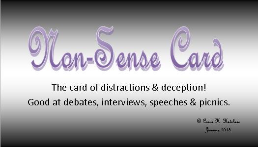 Nonsense card 1