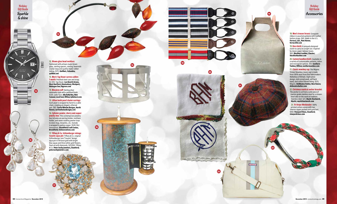 Carrie Whelan Designs featured in artisan magazine Jewelry Affaire, Winter 2014