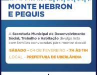 Lista de pessoas convocadas do empreendimento Monte Hebron e Pequis!