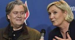 Steve Bannon con Marine Le Pen