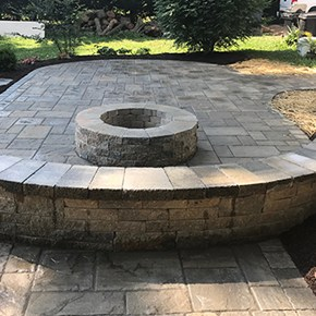 Fire Pit Installation Carroll Landscaping