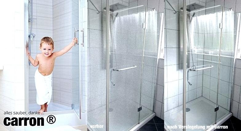 carron® PTFE Glasversiegelung gegen Kalk und Schmutz an Glas Dusche ...
