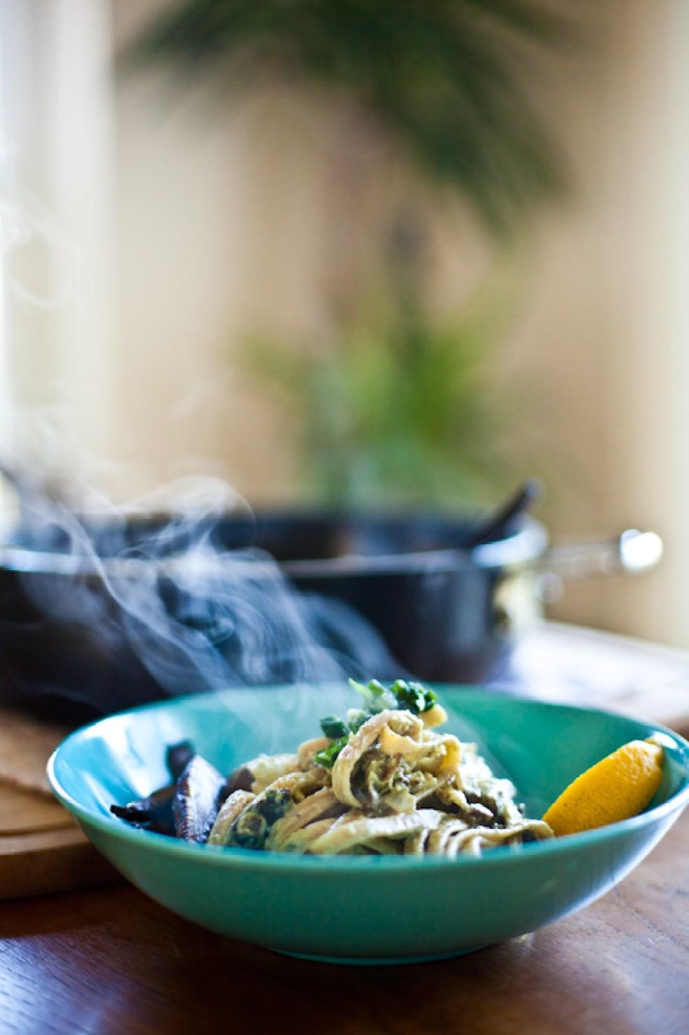 Roasted Garlic Vegan Alfredo Sauce