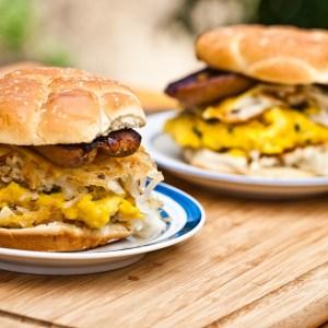 Mac Daddy Vegan Breakfast Sandwich