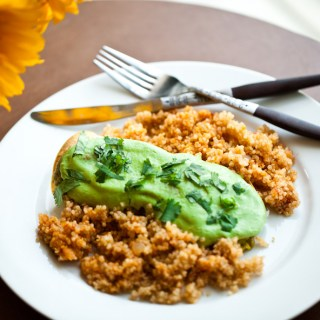 Vegan Green Enchiladas with Mexican Quinoa