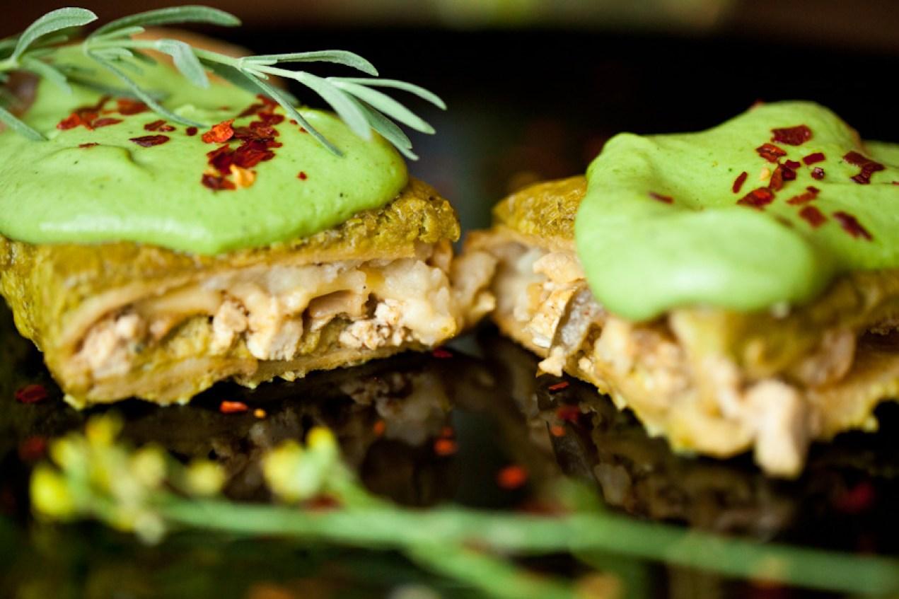 Easy Vegan Green Enchiladas with Mexican Quinoa