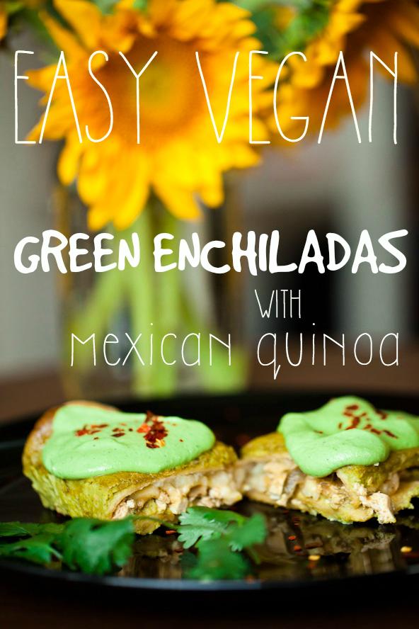 Easy Vegan Green Enchiladas