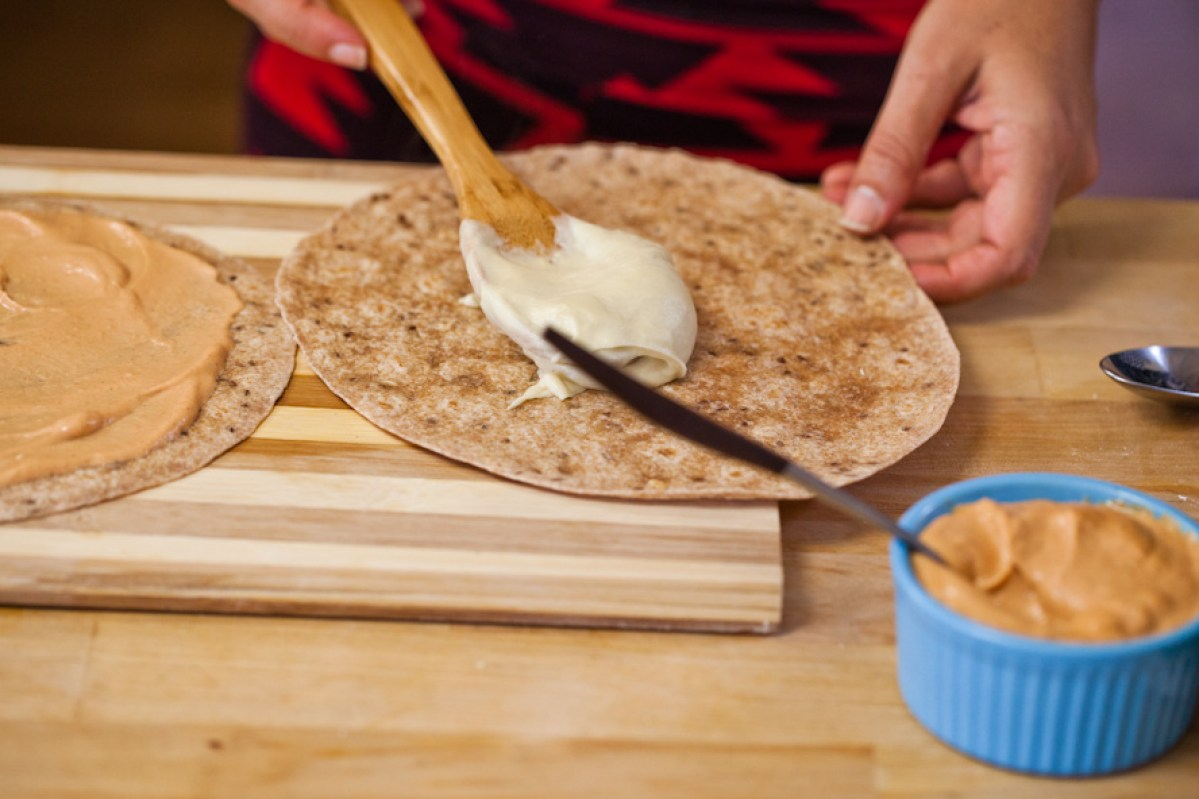 Vegan Quesadillas with Cashew Cheese and Chipotle Cream