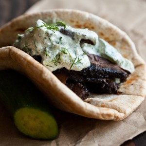 Portobello Gyros With Hemp Seed Tzatziki