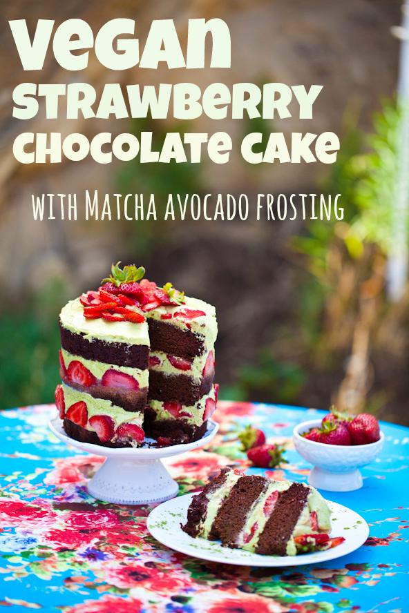 vegan chocolate matcha cake