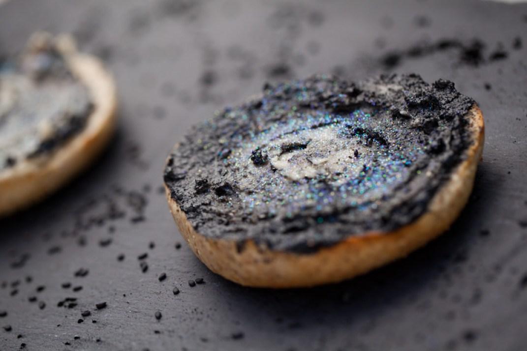vegan galaxy bagels black tahini