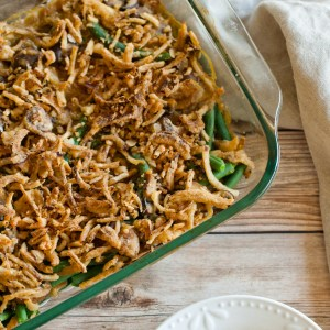 The ULTIMATE green bean casserole! Vegan + Gluten-free + Healthy | A simple, delicious Thanksgiving side dish your whole family will love!