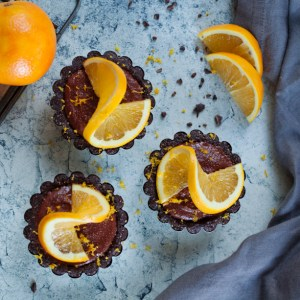 Raw Vegan Chocolate Orange Tarts
