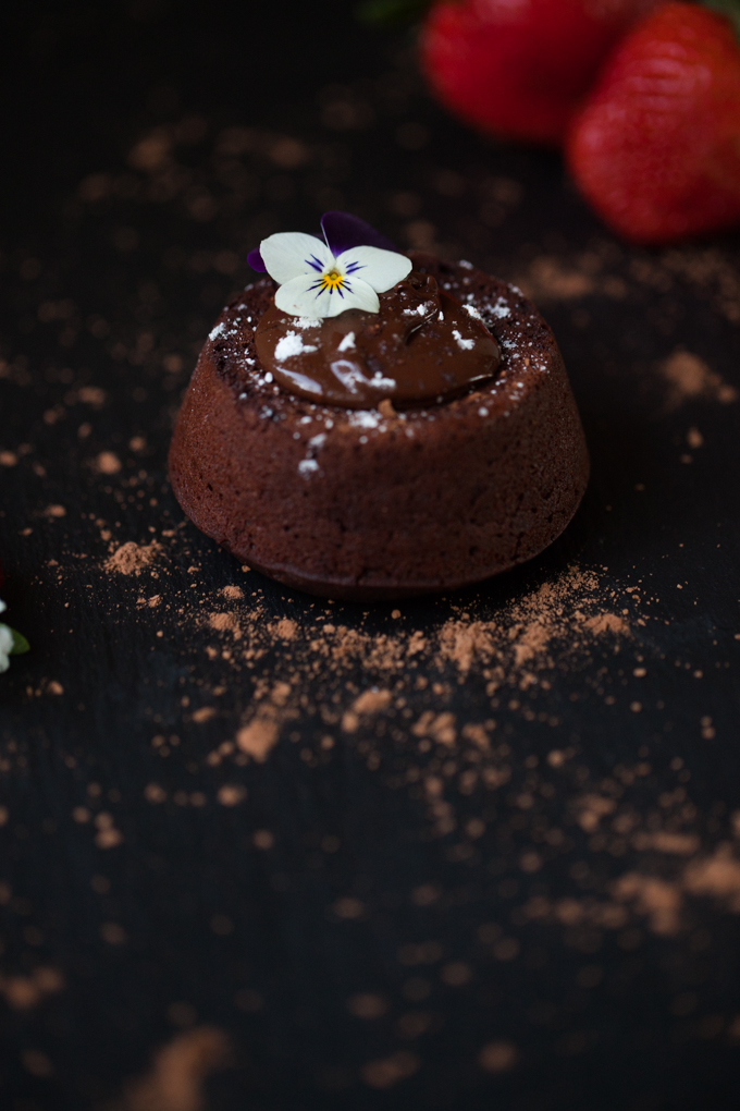 Carrots And Flowers Lava Cake