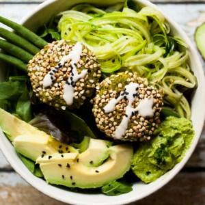 Supergreen Falafel Bowls (Gluten-free + Oil-free)