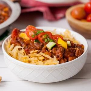 Best Ever Vegan Bolognese with Rutabaga Noodles