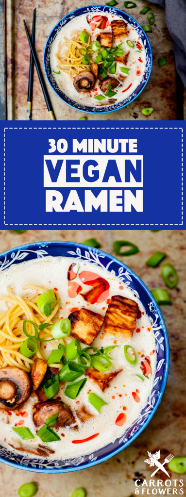INCREDIBLE Vegan Ramen that's ready in just 30 minutes! Savory, rich, perfectly flavored | Easy gluten-free dinner recipe that's healthy and so delicious